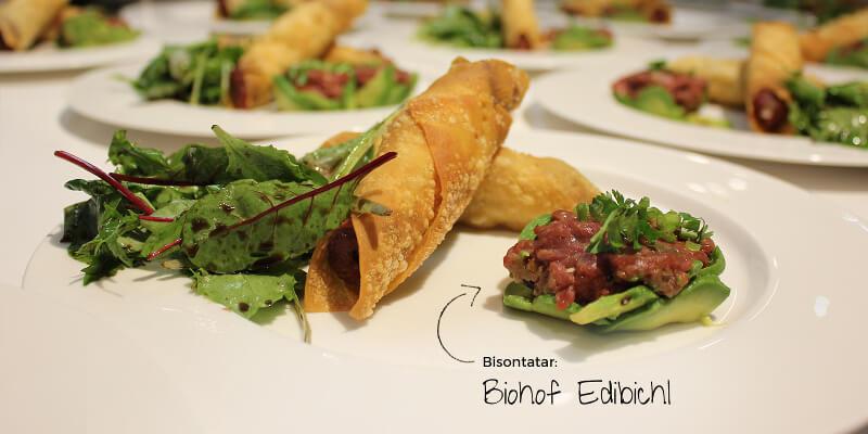 Bison Beef Tatar Biohof Edibichl Bisonfleisch