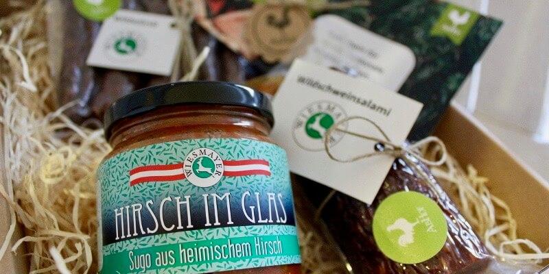 Wiesmayer Wild Bio Wildschwein Hirsch Reh Sugo Gulasch im Glas (1)