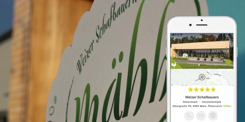 Weizer Schafbauern Weiz Schaf Mähh Josef Fuchs Gisela Käse Lamm Steiermark Genossenschaft AbHof Ab Hof App