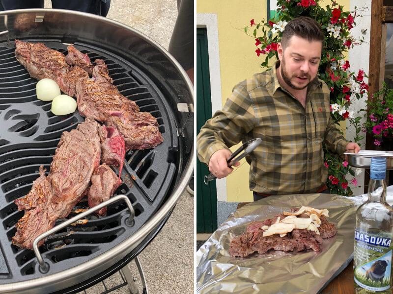 Pulled Beef Biohof Edibichl Grill Workshop Peter Zinter AbHof Napoleon