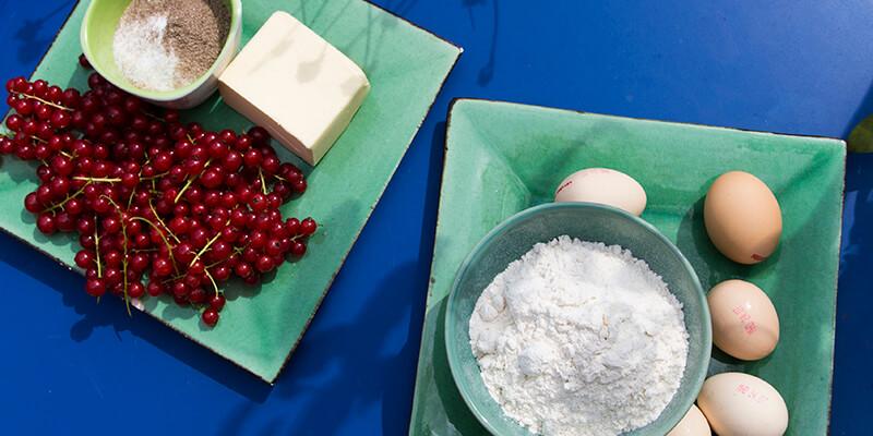 Ribisel-Johannisbeeren-Mehl-Eier-Bio-waschen-Eiklar-Schnee-Ribiselkuchen