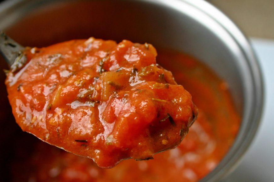 Tomatensugo Paradeiser Tomatensauce selbstgemacht Rezept