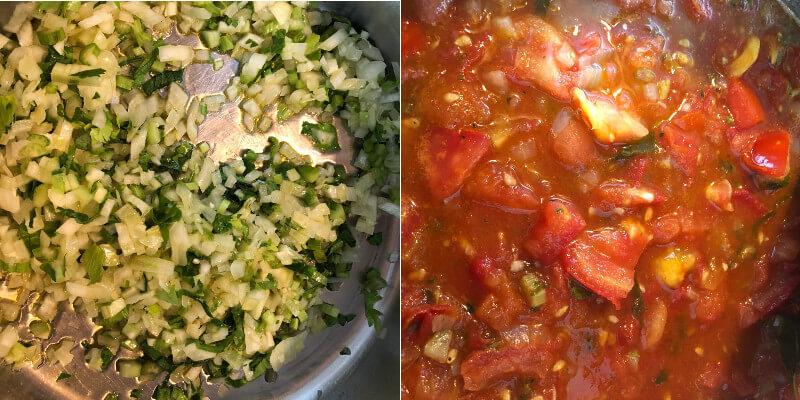 Tomatensugo Paradeiser Tomatensauce selbstgemacht Rezept Zwiebel
