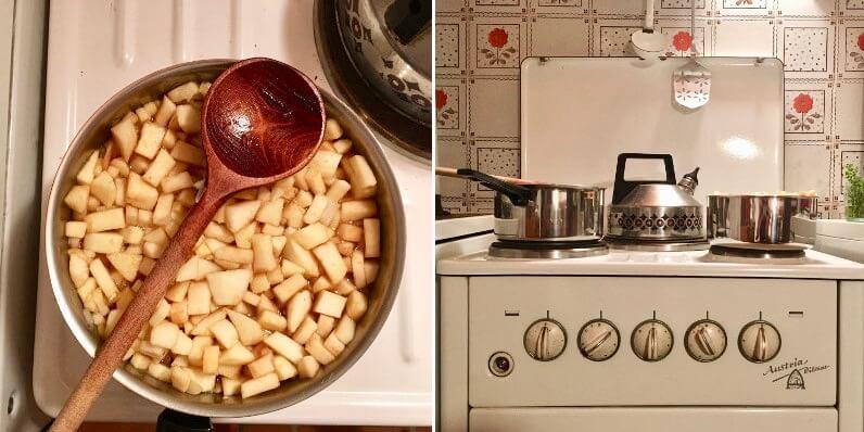 Apfel Chutney einkochen mit Chili, Ingwer und Zwiebel